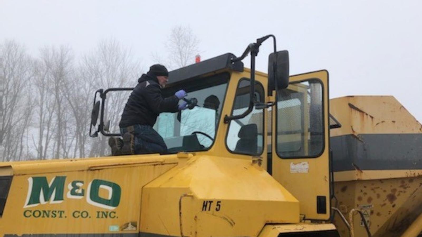 heavy machinery glass repair
