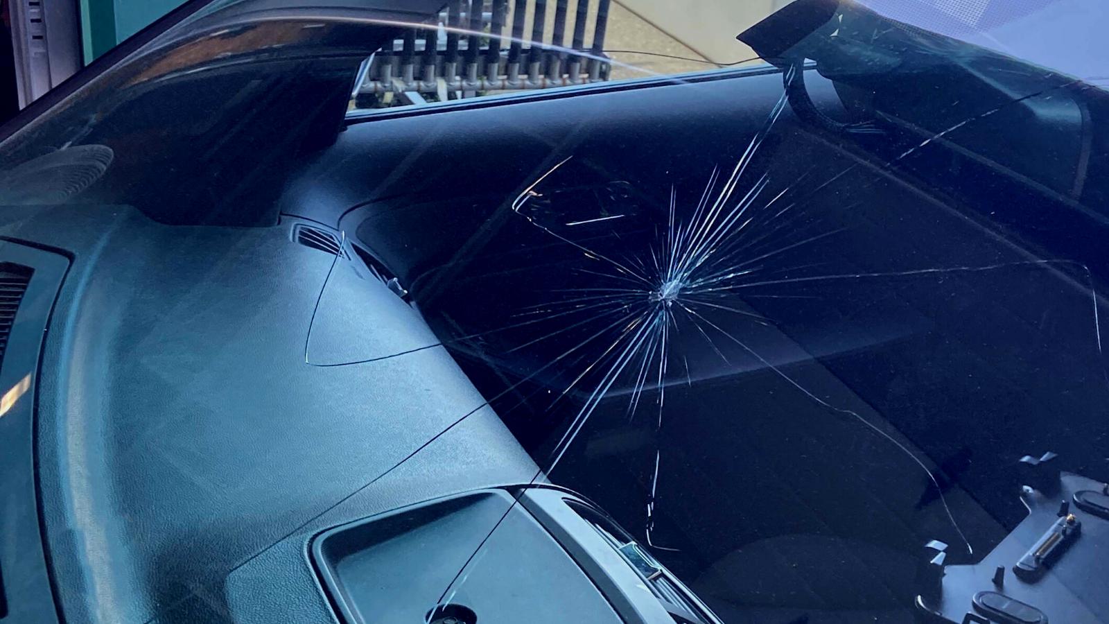 windshield crack across glass PGM