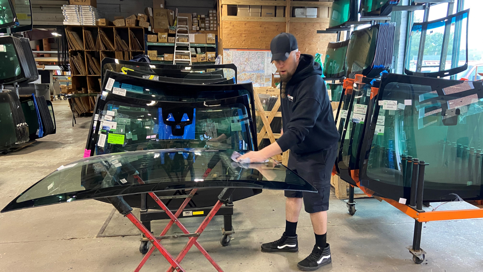 in shop windshield replacement plymouth glass