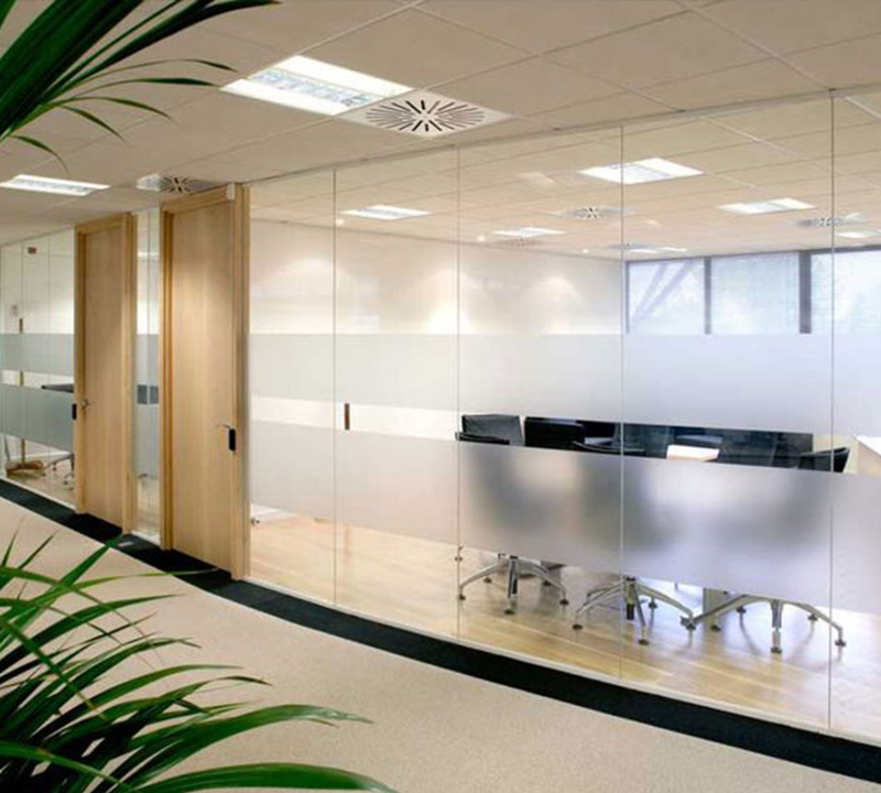 Plymouth Glass Interior Office Partitions & Glass Railing Systems