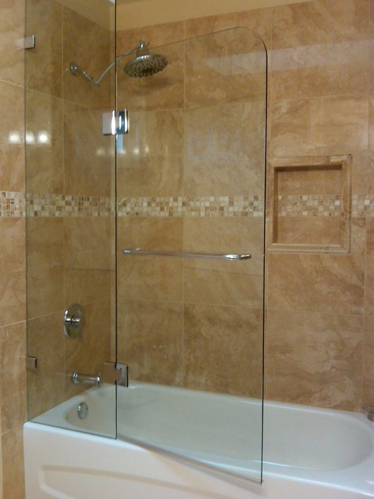 Frameless Tub Enclosure