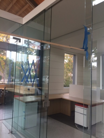 Glass Office Partition and Door