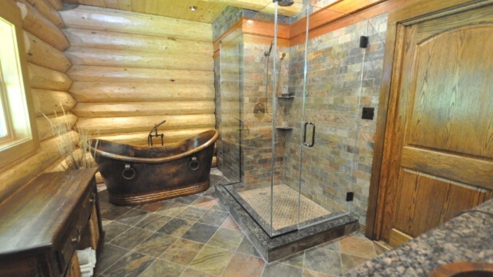 bathroom shower frameless glass