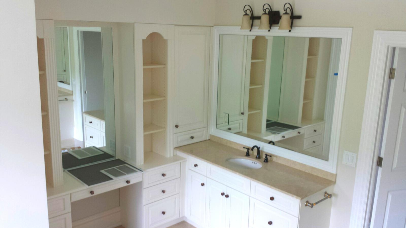 bathroom mirror custom Plymouth glass