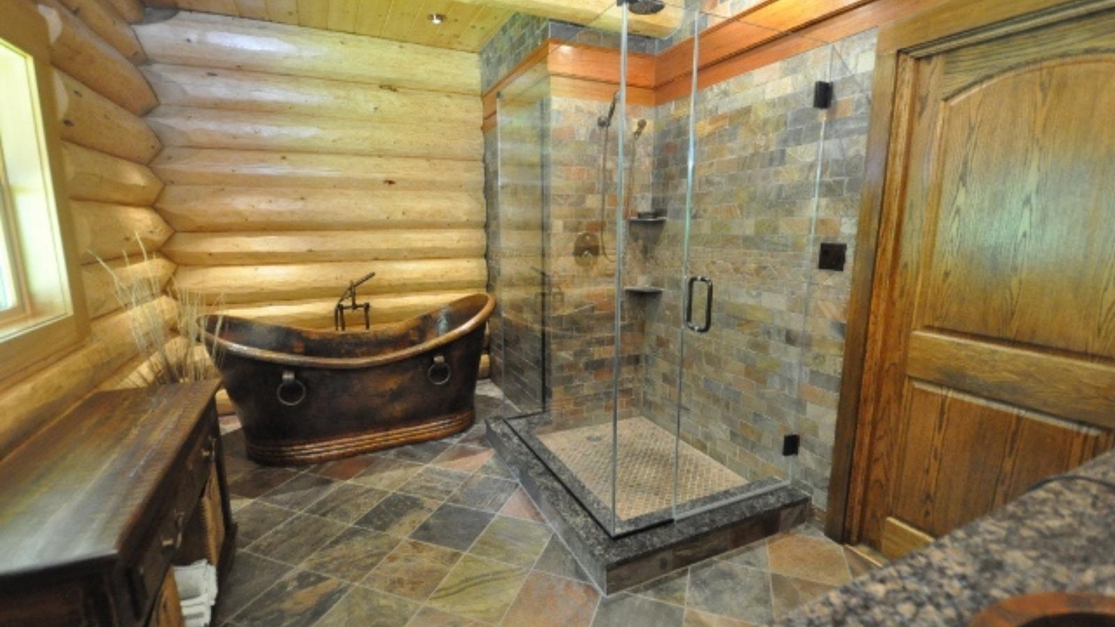 frameless glass shower with tub