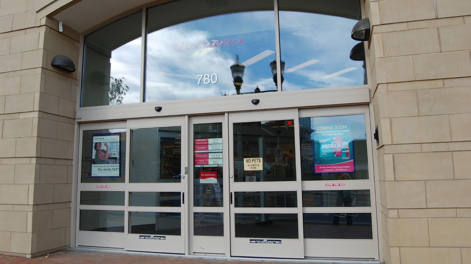 commercial storefront glass entrance
