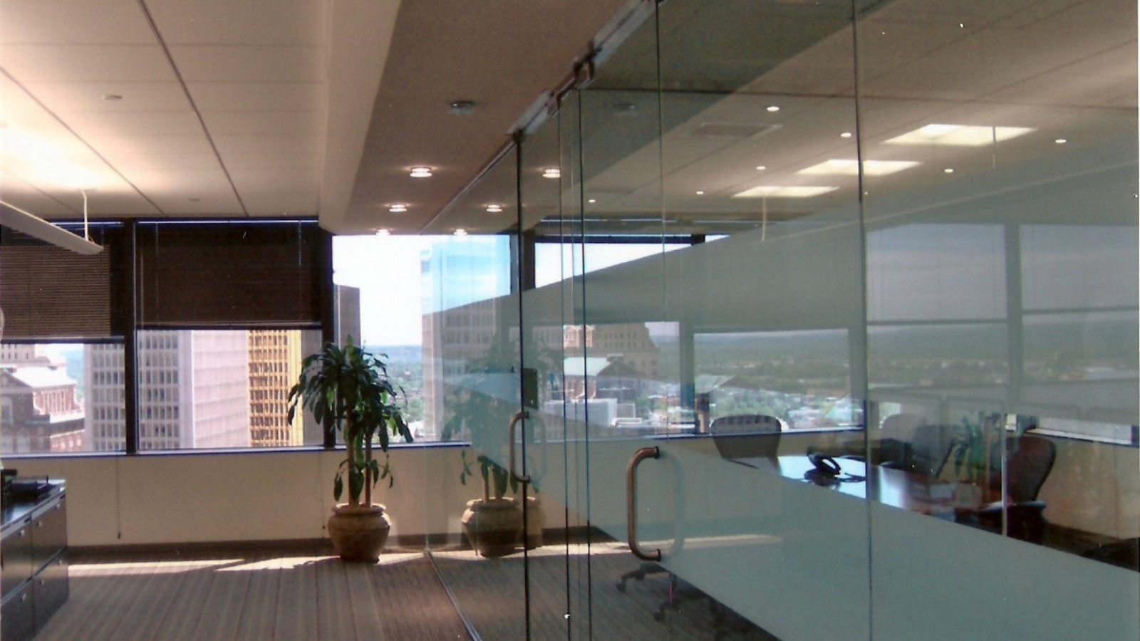 glass office partition plymouth glass