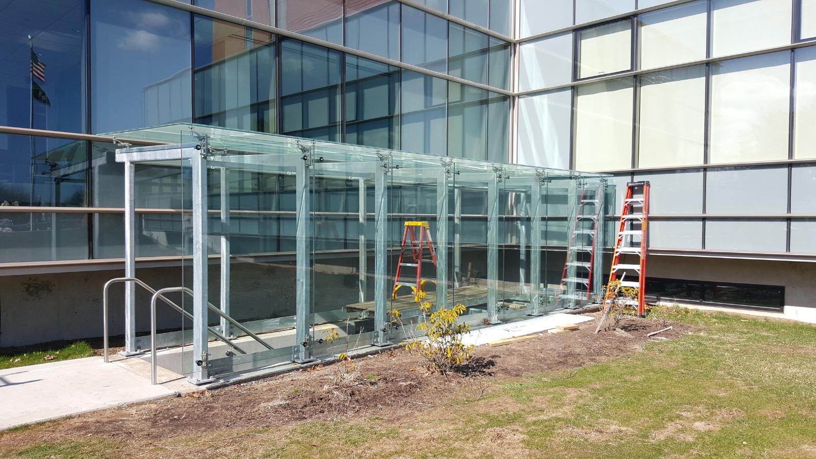 glass walkway canopy